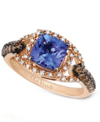 Le Vian Tanzanite 1 3 8 Ct. T.W. Chocolate And White Diamond 3 8 Ct. T.W. Ring In 14K Rose Gold