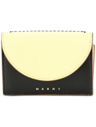 Marni Curved Flap Wallet Yellow