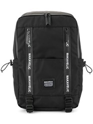 Makavelic Large Rectangular Backpack Black