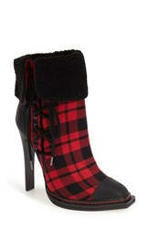 Women's Gx By Gwen Stefani 'Tribe' Foldover Cuff Bootie Red Plaid