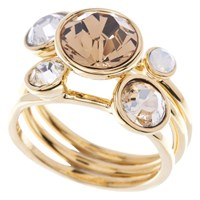 Ted Baker Jackie Jewel Stack Ring Rose Gold Clear