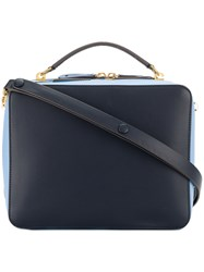 Anya Hindmarch The Stack Double Satchel Blue