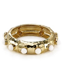Rj Graziano Hammered Bangle Gold Bone