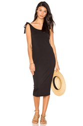 Michael Stars Tie Midi Dress Black