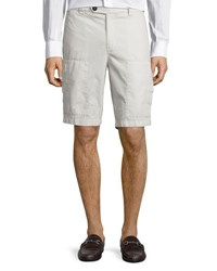 Brunello Cucinelli Cotton Cargo Shorts Neutral