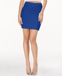 Guess Textured Mini Pencil Skirt Wild Blue