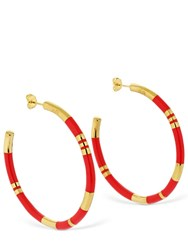 Aurelie Bidermann Large Positano Hoop Earrings Gold