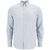 Tripl Stitched Men's Candy Stripe Long Sleeve Shirt Sky Blue