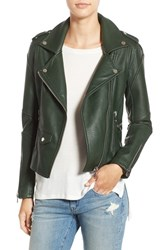 Blank Nyc Women's Blanknyc 'Easy Rider' Faux Leather Moto Jacket Dark Green