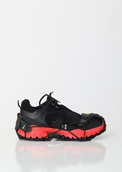 1017 Alyx 9Sm Low Hiking Boot With Harness Black Red Black Red