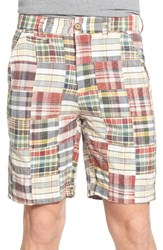 Men's Vintage 1946 'Acid Wash' Patchwork Madras Shorts