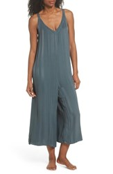 Lacausa Sienna Crop Lounge Jumpsuit Sage