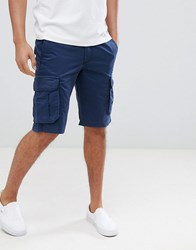 Pier One Cargo Shorts In Blue Dark Blue