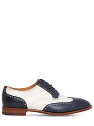 Ralph Lauren 20Mm Derby Leather Lace Up Shoes White