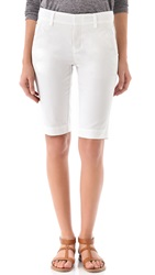 Vince Buckle Bermuda Shorts White