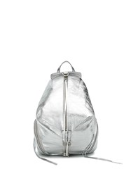 Rebecca Minkoff Julian Distressed Backpack Silver