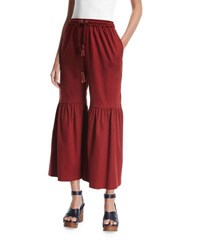 See By Chloe Flared Jersey Trousers Brown