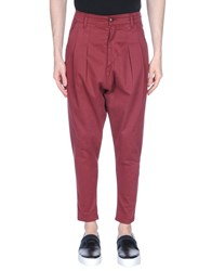 Mnml Couture Casual Pants Maroon
