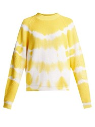 Msgm Bleached Cotton Sweater Yellow
