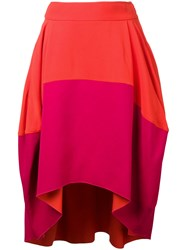 Antonio Berardi Draped Skirt Yellow Orange