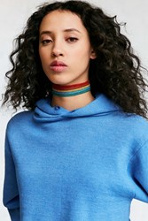 Urban Outfitters Rainbow Statement Choker Necklace Red Multi