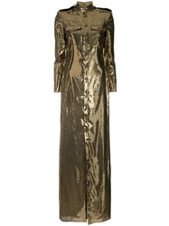 Ralph Lauren Collection Sequin Shirt Dress Gold