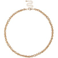 River Island Womens Gold Tone Twisted Chain Necklace