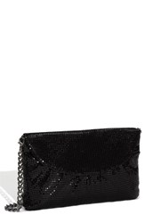 Whiting And Davis Convertible Mesh Clutch Black