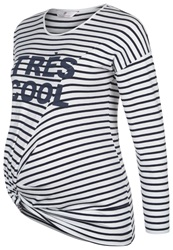 Bellybutton Ernesta Long Sleeved Top Snow White Striped