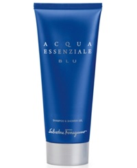 Salvatore Ferragamo Acqua Essenziale Blu Shampoo And Shower Gel 6.8 Oz