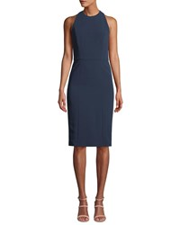 Alice Olivia Cora Fitted Sleeveless Dress Blue