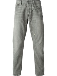 Polo Ralph Lauren Distressed Straight Fit Jeans Grey