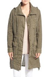 Women's James Perse Lightweight Linen Parka