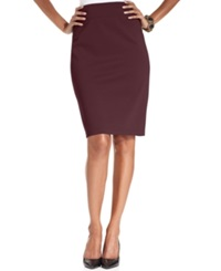 Style And Co. Pull On Ponte Knit Pencil Skirt Rhone
