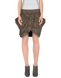 Mina Knee Length Skirts Black