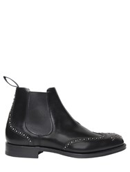 Church's Studded Brushed Leather Chelsea Boots Black