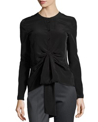Philosophy Di Alberta Ferretti Gathered Front Blouse Black