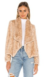 Bb Dakota Jack By All Fur You Faux Fur Jacket In Brown. Natural