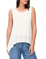 B Collection By Bobeau Double Layer Tank Top Ivory