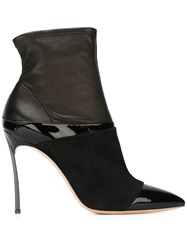 Casadei Stiletto Heels Ankle Boots Black