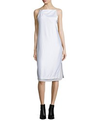 Edun Layered Raised Seam Satin Shift Dress Women's
