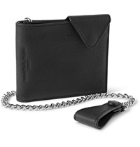 Maison Martin Margiela Textured Leather Chain Wallet Black