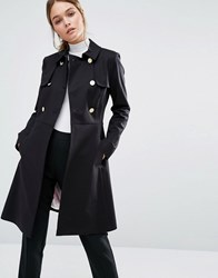 Ted Baker Nusa A Line Fitted Trench Coat Black