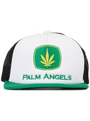 Palm Angels Logo Cap Green