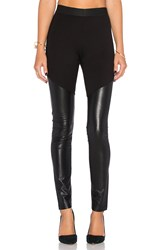 Bcbgmaxazria Francisco Faux Leather Legging Black