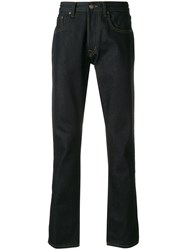 Deus Ex Machina Straight Leg Trousers Blue
