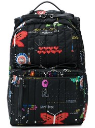 Valentino Printed Quilted Backpack Black