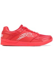 Plein Sport Tiger Detail Sneakers Men Leather Polyester Rubber 45 Red