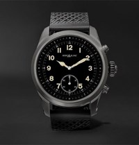 Montblanc Summit 42Mm Titanium And Rubber Smart Watch Black