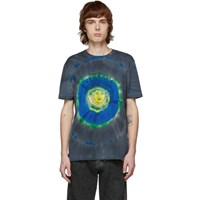 Versace Green And Multicolor Tie Dye Medusa T Shirt